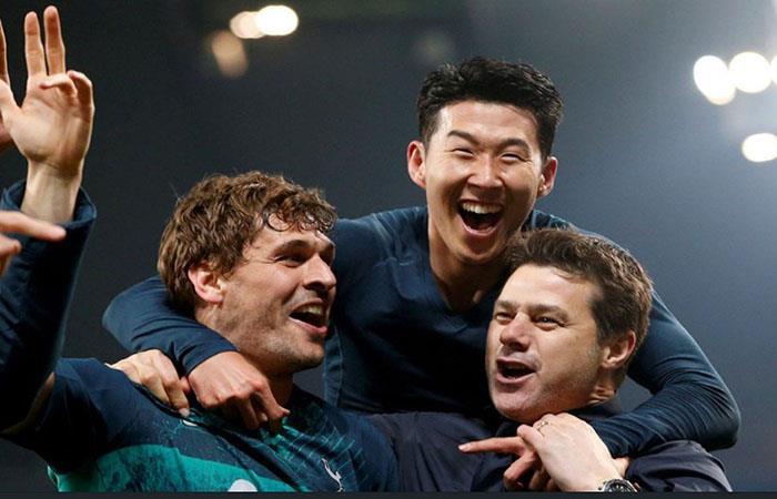 Pochettino, Llorente y Son, pilares de la histórica clasificación del Tottenham. (Foto: AFP)