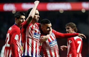 Con un gol de Ángel Correa, Atlético venció al Valencia