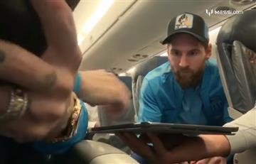 Messi, Suárez y Coutinho protagonizaron una partida de Parchís en pleno vuelo