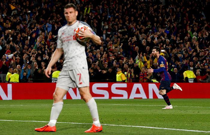 Messi celebra el tercero del Barcelona. (Foto: EFE)