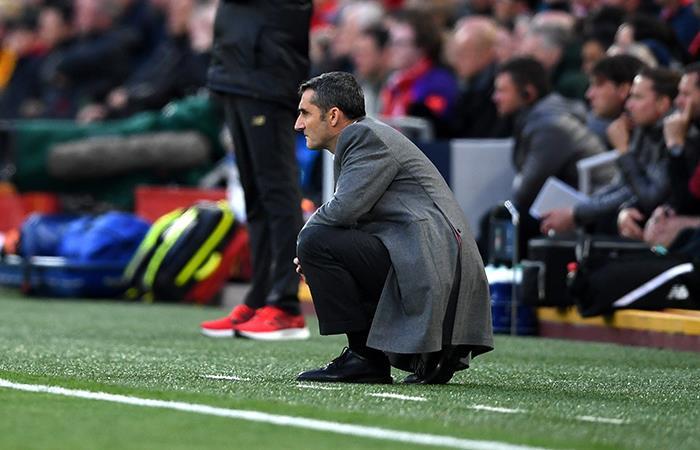 Valverde, frustrado. Foto: EFE