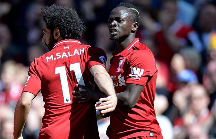 Salah y Mané, goleadores. Foto: EFE