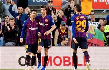 La Liga: Barcelona cumplió en el Camp Nou con Messi en cancha