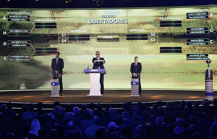 El sorteo se llevó a cabo en la sede de CONMEBOL. (Foto: EFE)