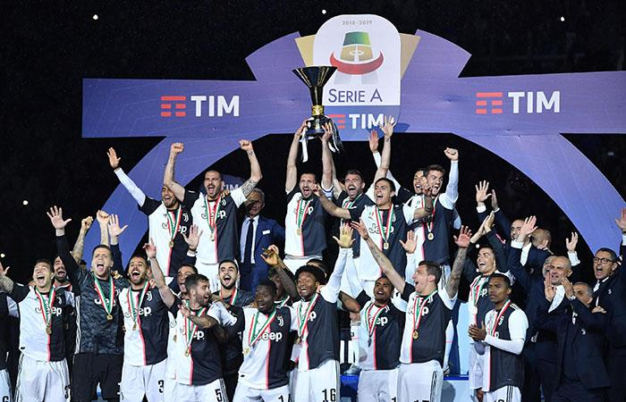 Juventus festejó el título en casa ante Atalanta. (Foto: EFE)