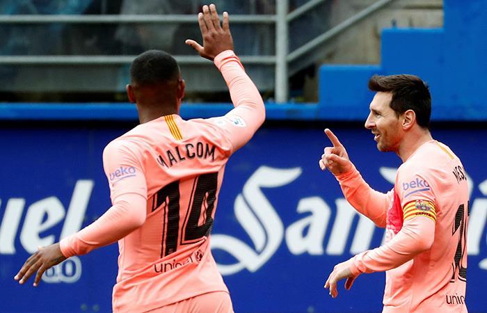 Messi marcó un doblete vs. Eibar. Foto: EFE