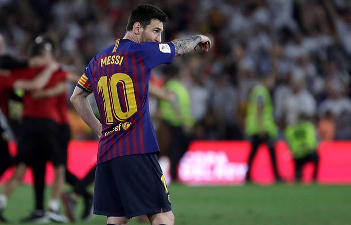 Messi, en el último partido con el Culé. Foto: EFE