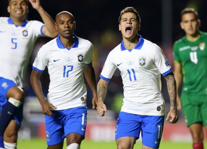 Coutinho anotó el primer gol de la Copa América. (Foto: EFE)