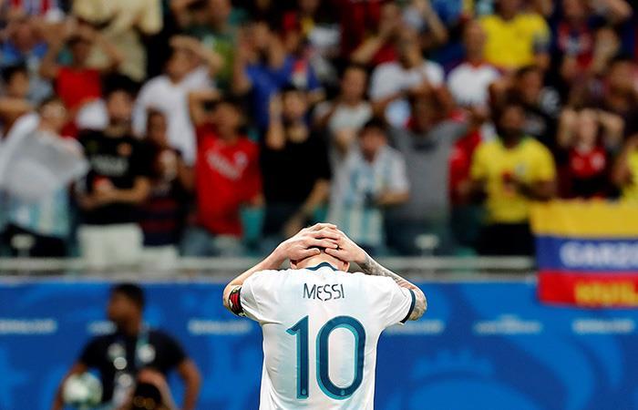 Messi, apntado. Foto: EFE