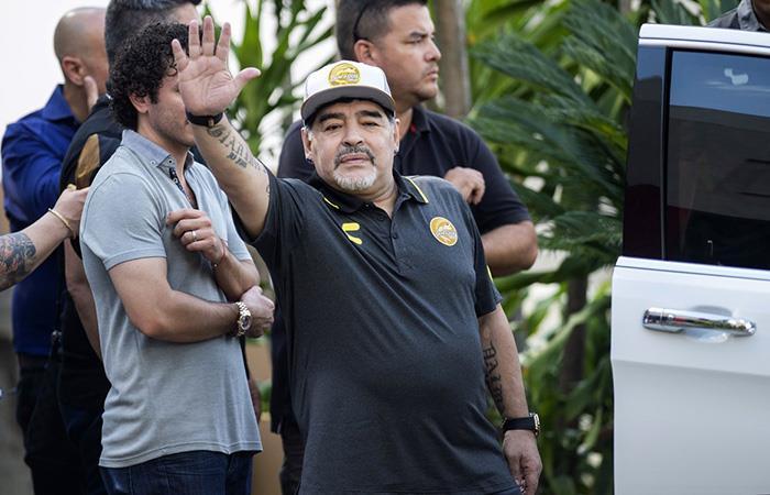 El Diego desechó rumores. Foto: EFE