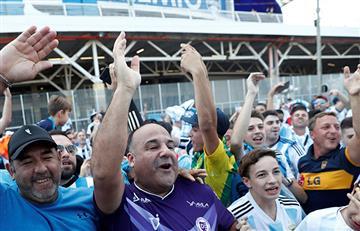 ¡El color de los hinchas argentinos!