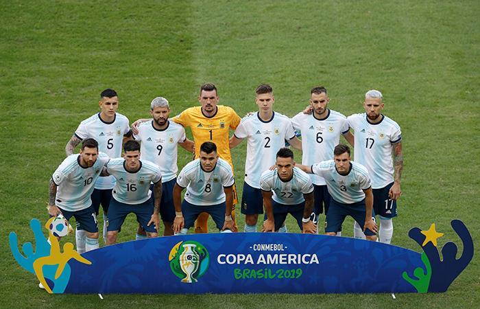 Así formó Argentina ante Venezuela. (Foto: EFE)