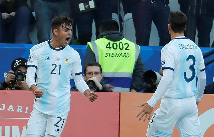 Dybala marcó el segundo tanto. Foto: EFE
