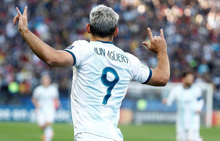 Un tanto más para el Kun en la Copa. (Foto: EFE)