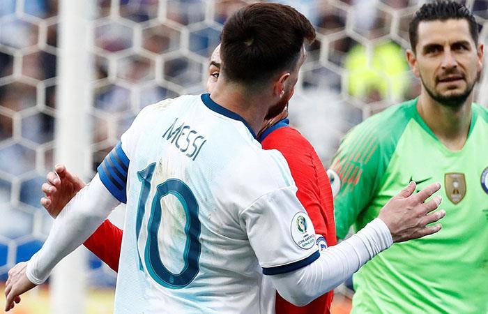 Messi fue expulsado contra Chile. (Foto: EFE)
