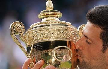 Djokovic y un festejo alocado en Wimbledon