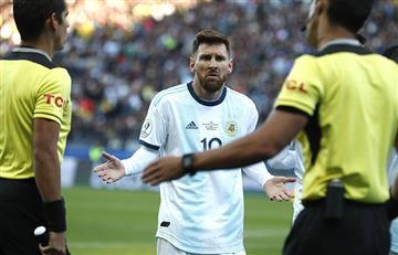 Messi, sancionado por la Conmebol