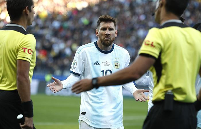 Messi, sancionado. Foto: EFE