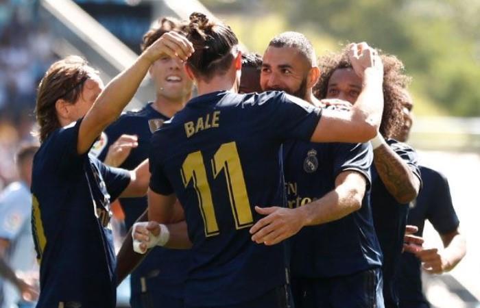 Benzema abrió la cuenta ante el Celta. Foto: EFE
