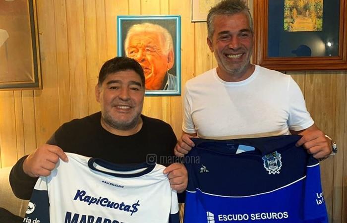 La dura crítica que recibió Maradona tras asumir en Gimnasia. Foto: Instagram Maradona