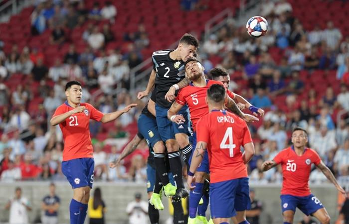 Argentina igualó 0 a 0 ante Chile en Los Angeles. Foto: Twitter