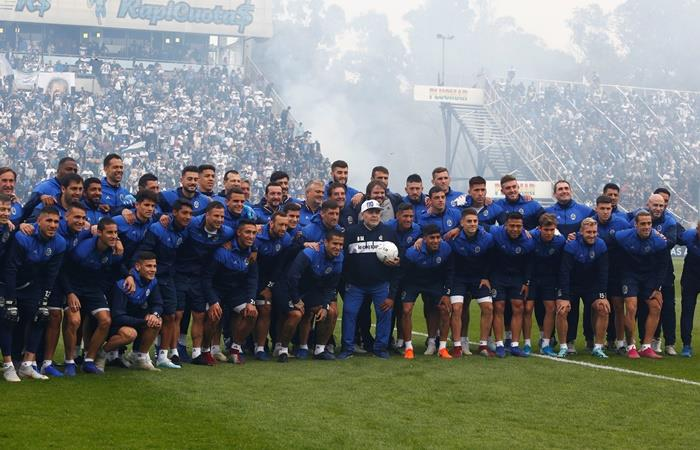 El jugador de River que fue a ver al Diego a La Plata. Foto: EFE