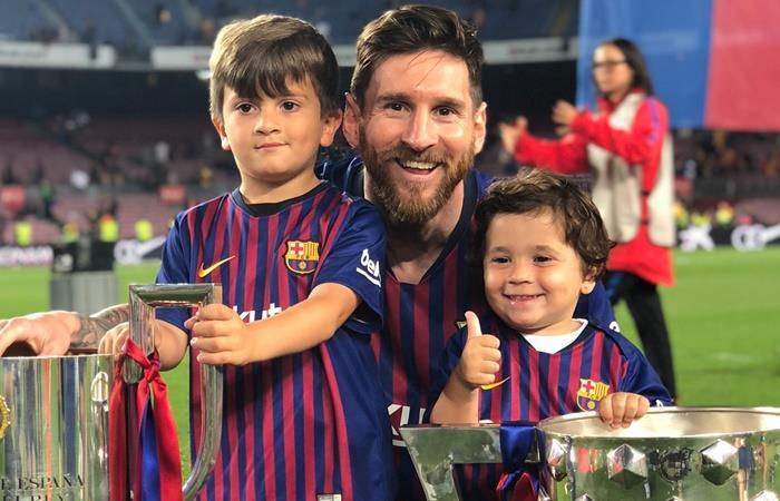 Lionel Messi contó que Mateo se le enojó cuando dijo que lo cargaba con Barcelona: Foto: Instagram Antonela Roccuzzo