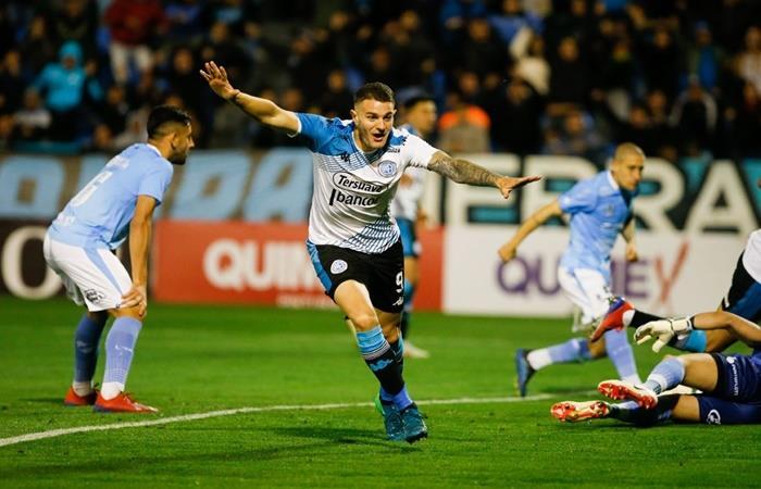 Vegetti festeja su gol, el tercero en lo que va de la temporada. Foto: Twitter Belgrano