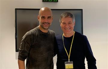 La visita de Ariel Holan a Pep Guardiola en Manchester City