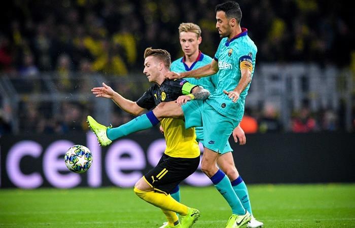 Ya se juega Barcelona Borussia Dortmund. Foto: EFE