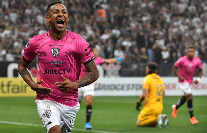 Gabriel Torres anotó dos goles en la victoria de Independiente del Valle en San Pablo. Foto: Twitter Sudamericana