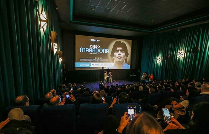 Presentaron el documental de Diego Maradona en Buenos Aires. Foto: EFE