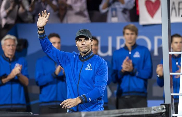 Nadal se retiró de la Laver Cup |. Foto: EFE