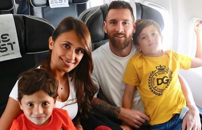 Lionel Messi va por su primer premio de The Best a Milán junto a su familia. Foto: Instagram Leo Messi