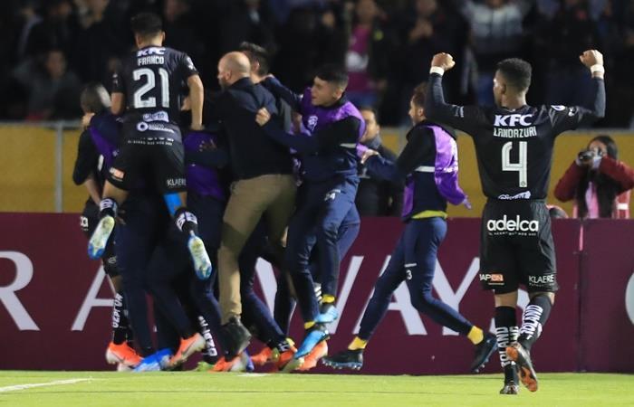 Independiente del Valle empató con Corinthians y jugará la final de la Sudamericana. Foto: EFE