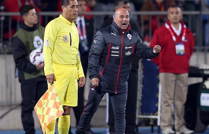Jorge Sampaoli encabeza una demanda de 4.7 millones de pesos contra Chile. Foto: Twitter La Roja