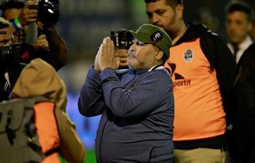 Maradona ante River: abrazo con Gallardo y perdón a los hinchas