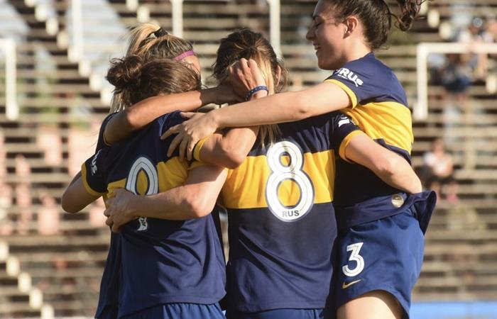 Boca ganó de visitate y es uno de los líderes del torneo femenino. Foto: Twitter