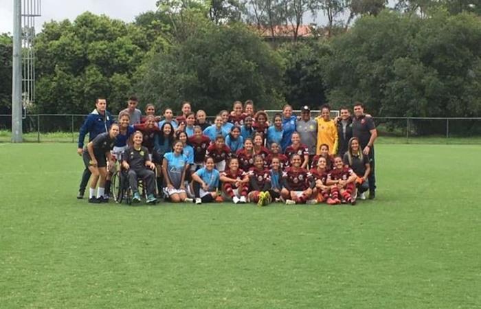 Flamengo le ganó 56 a 0 a Greminho en el fútbol femenino. Foto: Twitter Flamengo