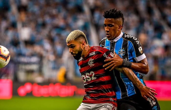 Gremio y Flamenoo igualaron 1 a 1 en Porto Alegre. Foto: EFE