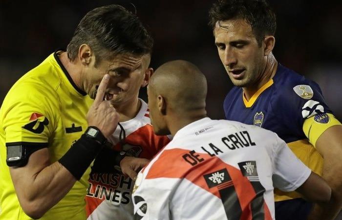 Copa Libertadores: ¿Hubo mano de De La Cruz antes del penal que le dieron a River? |. Foto: Twitter
