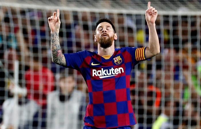 El golazo de Messi de tiro libre frente al Sevilla. Foto: EFE