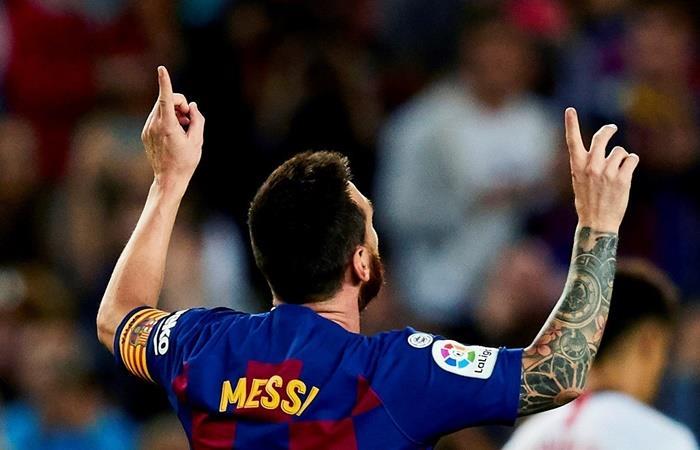 Lionel Messi destacó que si lo quieren, se queda en Barcelona. Foto: EFE