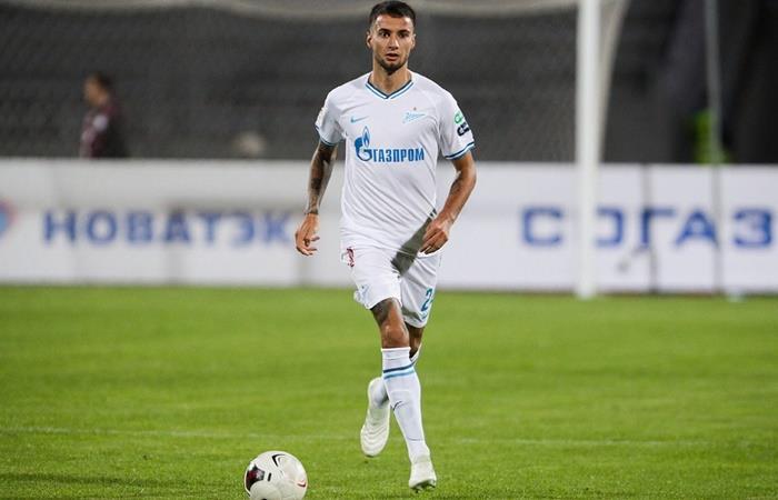 Emanuel Mammana se rompió parcialmente el ligamento anterior de la rodilla izquierda. Foto: Twitter Zenit