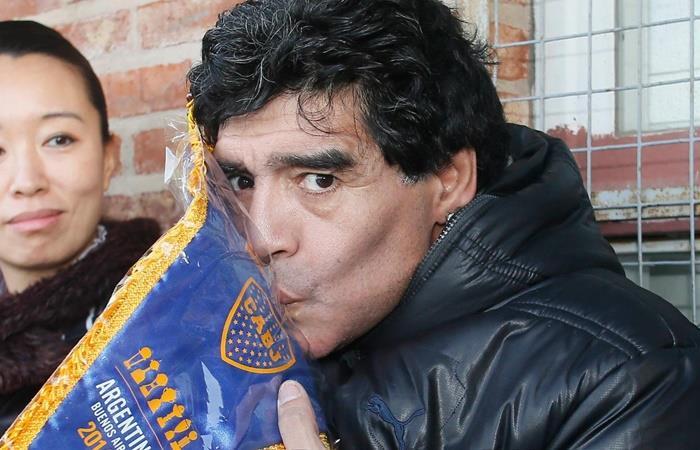 El mensaje de Diego Maradona para los hinchas de Boca en la cena solidaria. Foto: Twitter Boca