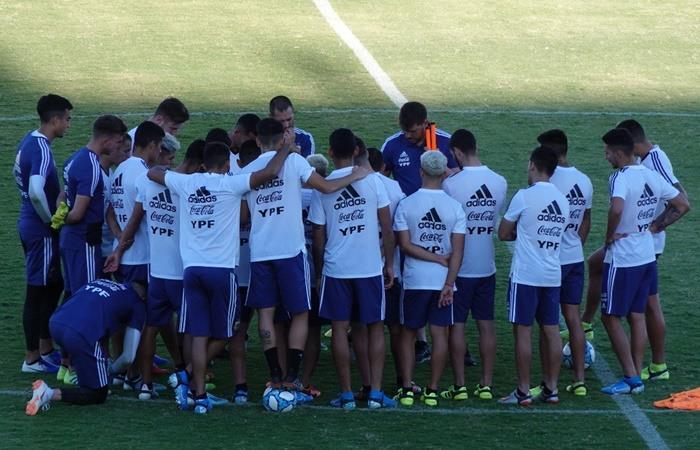 Argentina Sub 23 debuta en su gira ante México. Foto: Twitter