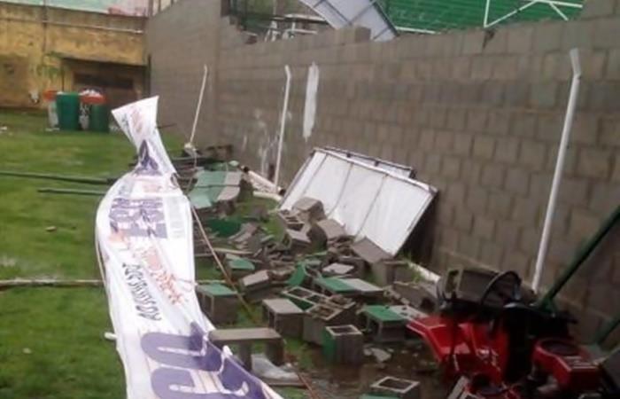 Así fueron los destrozos en el estadio de Defensa y Justicia. Foto: Twitter