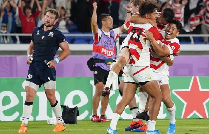 Japón le ganó a Escocia y se clasificó a cuartos de final. Foto: EFE