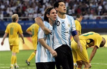El mensaje de la cuenta oficial de la despedida de Juan Román Riquelme a Lionel Messi