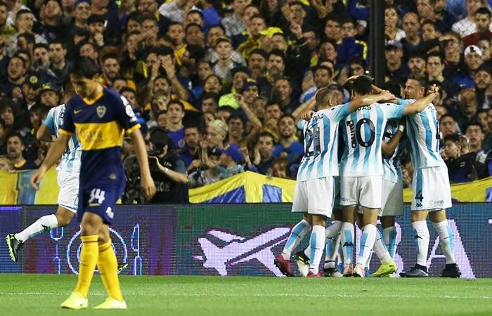 Racing le ganó a Boca y le quitó el invicto en la Superliga. Foto: Twitter
